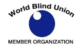 "WBU's logo. ""World blind union, member organization""."